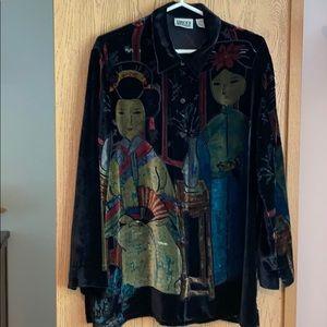 Chico's velvet shirt Size 2